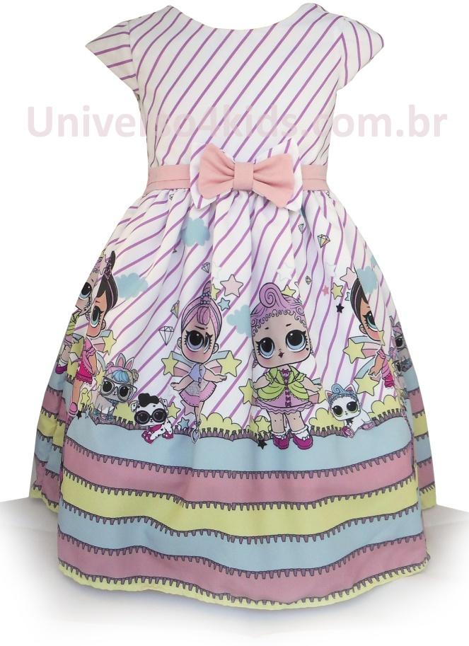 7618864c24 Vestido Lol Surprise  Lindos modelos para Festa Infantil das Minis ...